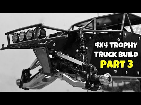 Custom 4x4 Trophy Truck Build - Part 3: Front Bumper/Lights, Body Panels