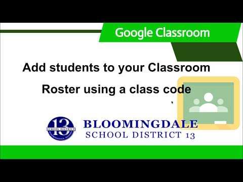 Google Classroom: Class Code