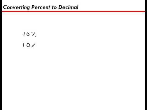Converting a Percent to a Decimal (10%)