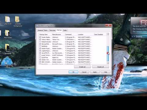 HOW TO DISABLE AUTOMATIC STARTUP PROGRAMS IN WINDOWS 7