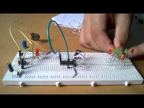 DLD Project || 4 Way traffic signal control light
