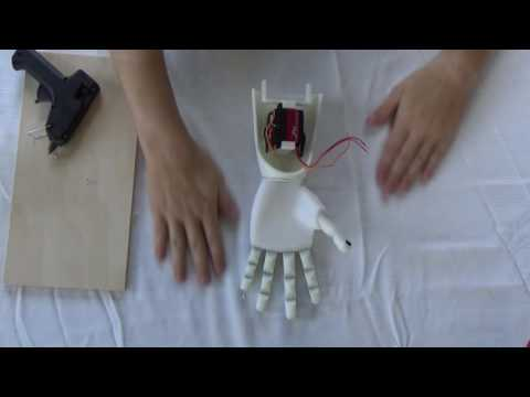 Assembly of 3D Printed Prosthetic Hand | From Thingiverse