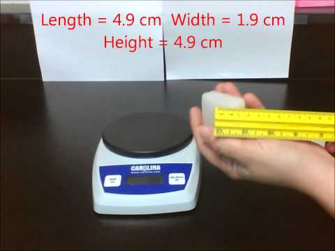 Lab 2.2 - Comparing Densities of Regularly Shaped Solids