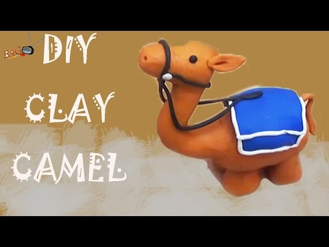 PLAY  DIY  CLAY LITTLE CAMEL : How To Make Modelling Clay Art