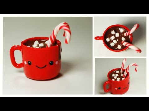 polymer clay Kawaii Hot Chocolate TUTORIAL
