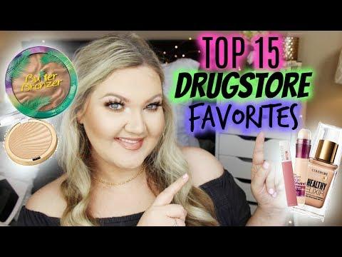 TOP 15 DRUGSTORE FAVORITES | 2018