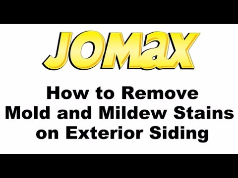 How to Remove Mold & Mildew Stains on Exterior Siding with Jomax® House Cleaner & Mildew Killer