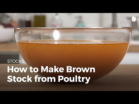 How to make brown stock from poultry   Cooking Chicken