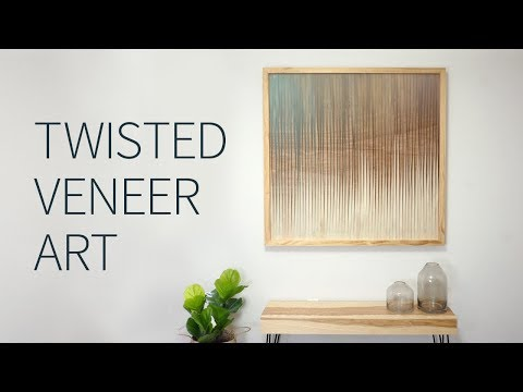 Twisted veneer wood art + how to make a frame