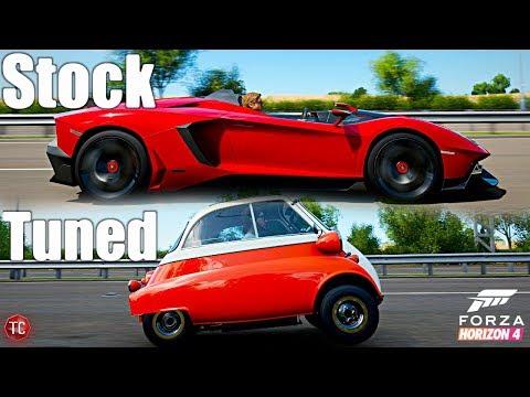 Forza Horizon 4: Stock vs Tuned! Barrett Jackson Bronco vs Shelby GT350