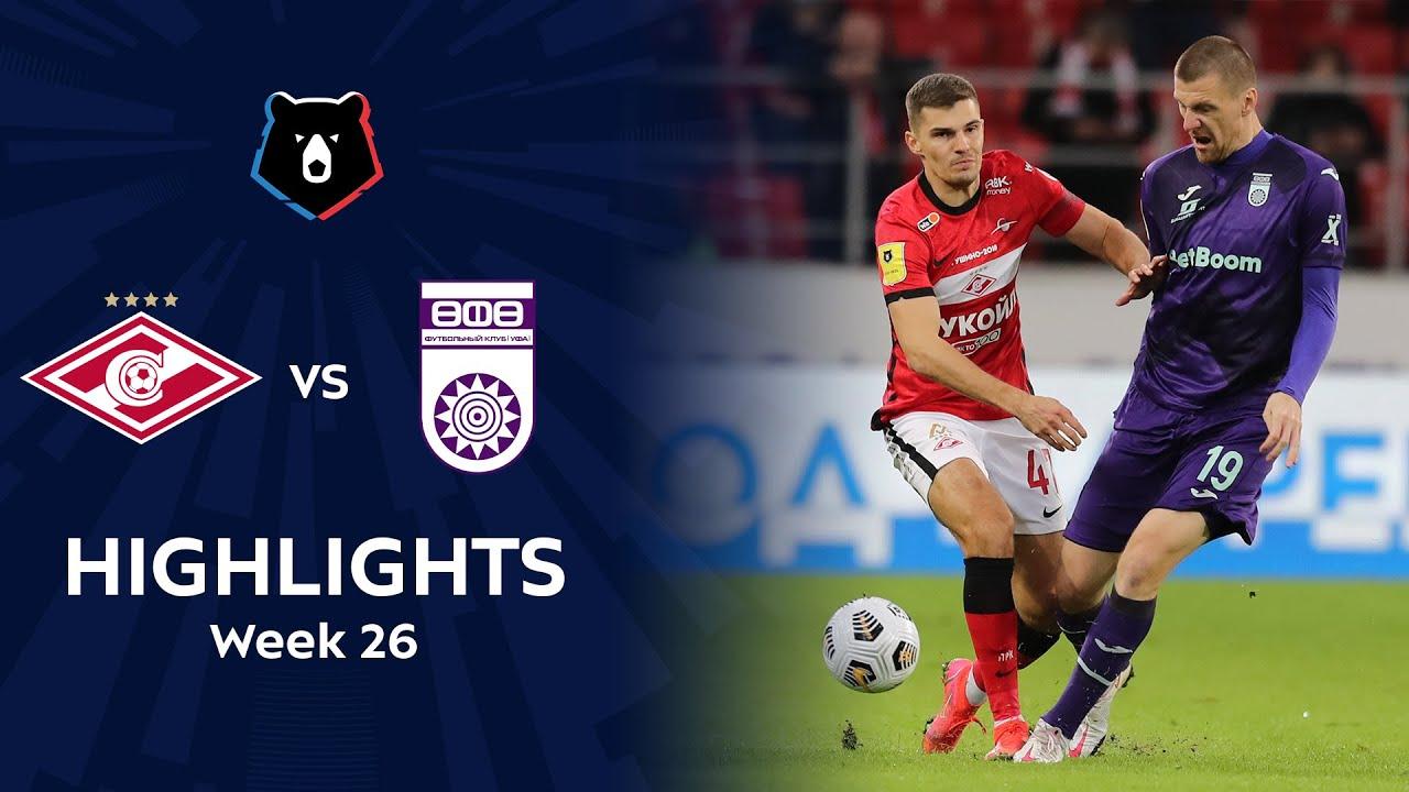 Highlights Spartak vs FC Ufa (0-3)   RPL 2020/21