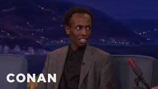 Barkhad Abdi Grew Up On Jean-Claude Van Damme Movies  - CONAN on TBS