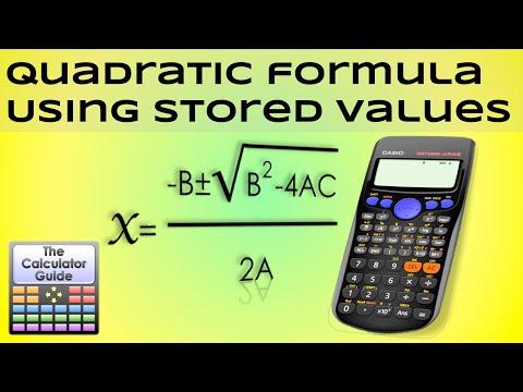 Quadratic Formula - Using stored memory values for A, B & C - Casio Calculator fx-83GT PLUS fx-85GT