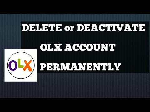 How to deactivate olx account or delete account permanently