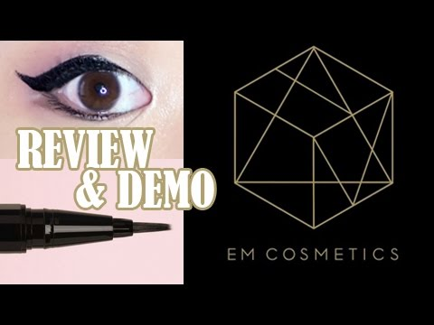 EM COSMETICS *NEW* Illustrative Eyeliner Brush Tip - FIRST IMPRESSIONS, REVIEW, AND DEMO!