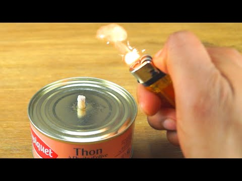 How to make a Tuna Torch - Survival Life Hack!