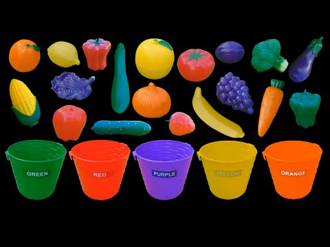 Fruit and Vegetable Colors - Color Sorting - The Kids' Picture Show (Fun & Educational)