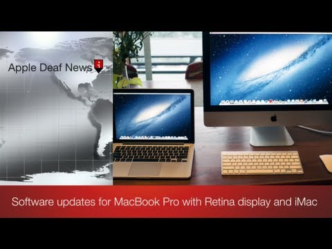 Software updates for MacBook Pro with Retina display and iMac