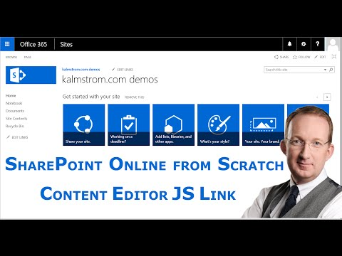 SharePoint Content Editor Web Part 5 - JavaScript Link
