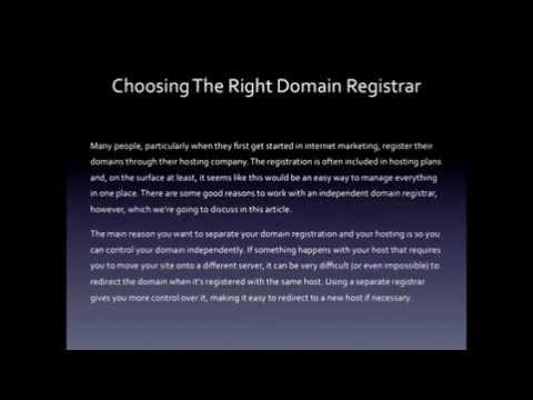 Choosing The Right Domain Registrar.