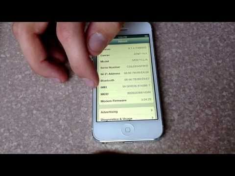 How to check esn/ imei/ meid number on an iPhone 5