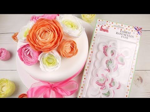 How To Make A Quick & Easy Sugar Ranunculus Using The Easiest Ranunculus Ever Cutter