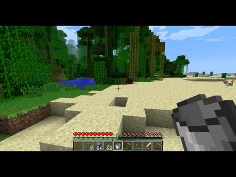 Minecraft How to Make and Fill a Bucket