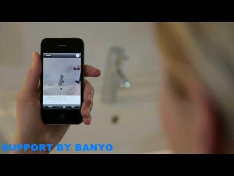 Hansgrohe Virtual design bathroom with an iphone App