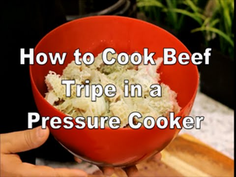 How to cook beef tripe using a pressure cooker