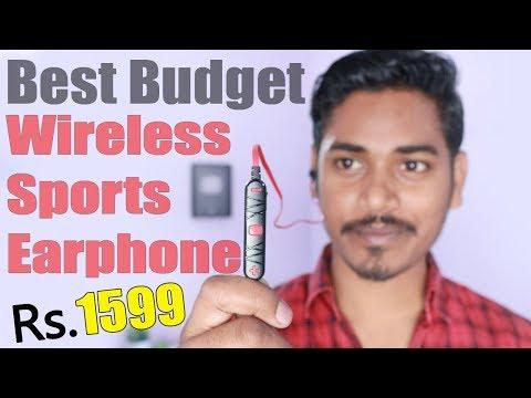 Best Budget Earphone - Wooky Wireless Smart Sports Sterio Earphone Unboxing & Review