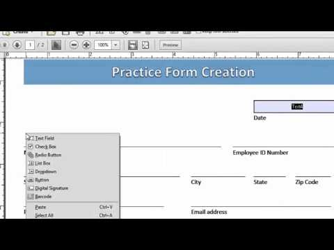 Alternative Methods to Create a Form Field in Adobe Acrobat