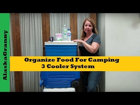 How To Organize Food For Camping 3 Cooler system