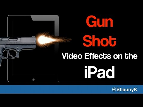 How to create gun video effects on the iPad- Getting started with the Gun FX app