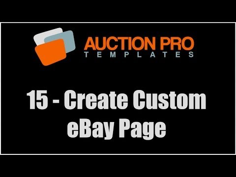 15 - How To Create And Add Custom Page To eBay Store