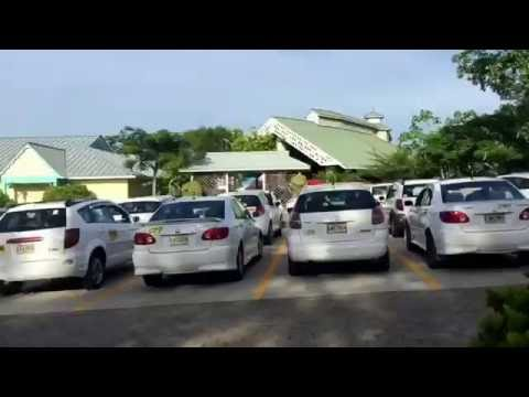 Walking out of mahogany bay cruise port Roatan to get to LFK