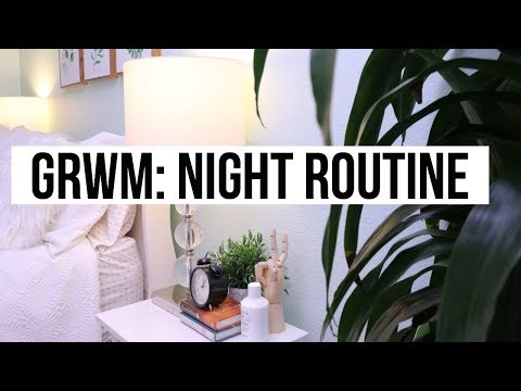 GRWM: NIGHT ROUTINE +  CLEAR NATURAL HEALTHY SKINCARE | SCCASTANEDA