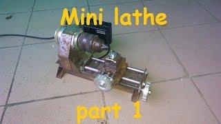 Homemade mini lathe