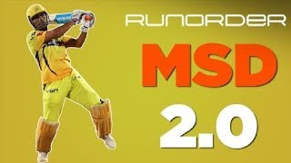 Runorder: Can MS Dhoni 2.0 keep going?
