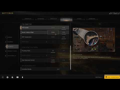 How to Show Server Latency Ping in Black Ops 4