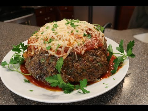 How To Make A Giant Spaghetti Stuffed Meatball