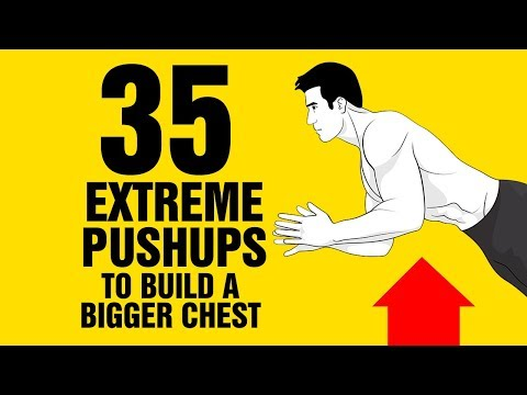 🔥35 Extreme Pushup Variations To Build a Bigger Chest at Home - Sixpack Factory🔥