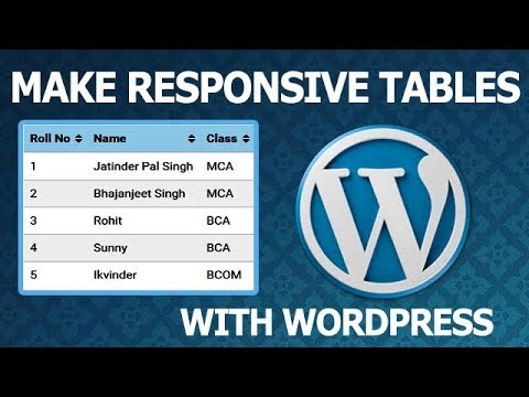 WordPress Tables - Build Tables in WordPress with Table Press Plugin