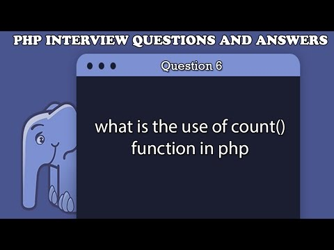 what is the use of count function in php
