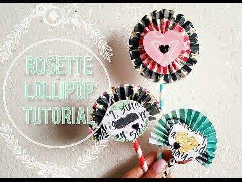 Paper Rosette Lollipop Tutorial // Requested