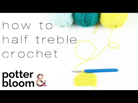 BEGINNERS CROCHET + how to crochet a half treble crochet (htr) into your starting chain