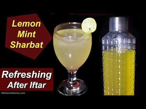 Lemon Mint Sharbat Recipe - Nimbu Pudina Sharbat - Ramadan Special Recipe