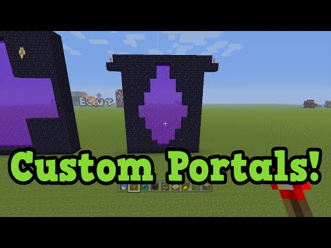 Minecraft TU31 - Custom Shaped Portals Tutorial