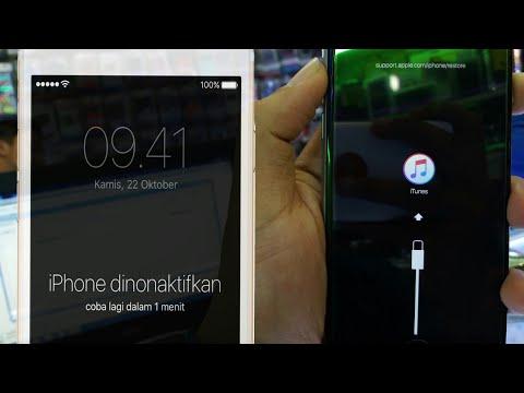 [Tutorial] Mengatasi Iphone Disabled Dinonaktifkan Lupa Kata Sandi Stuck Logo Itunes 100% Work