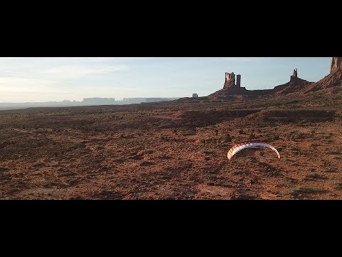 Flying an amazing Rc Paramotor - Hybrid 1.8 in West USA