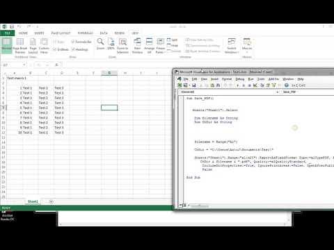 Excel sheet save as pdf in specific folder vba macro